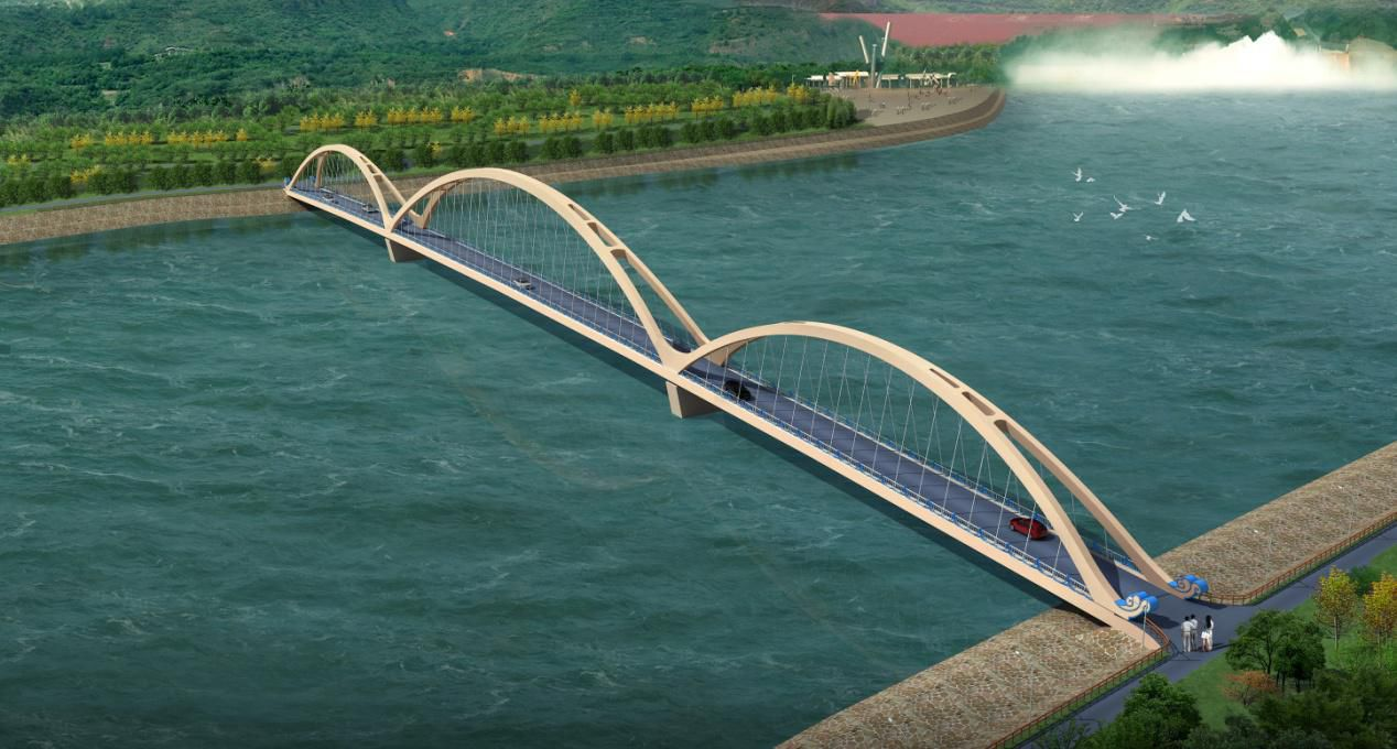 中承式拱桥-乡村 交通桥