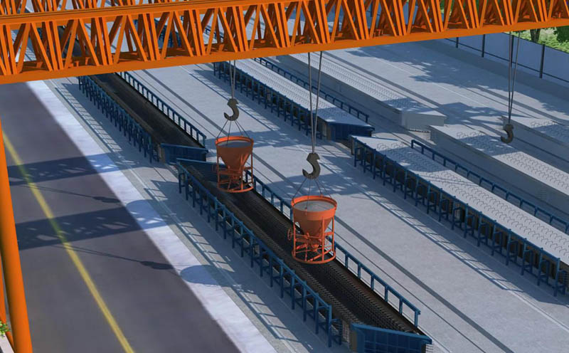 周口至南阳高速公路空心预制板施工三维动画