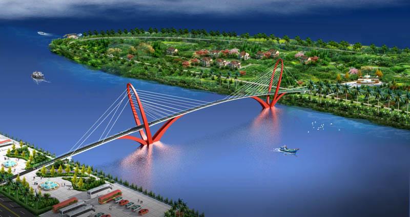 孟加拉科克斯巴扎Naf公园景观桥项目设计与技术咨询(2018至今)